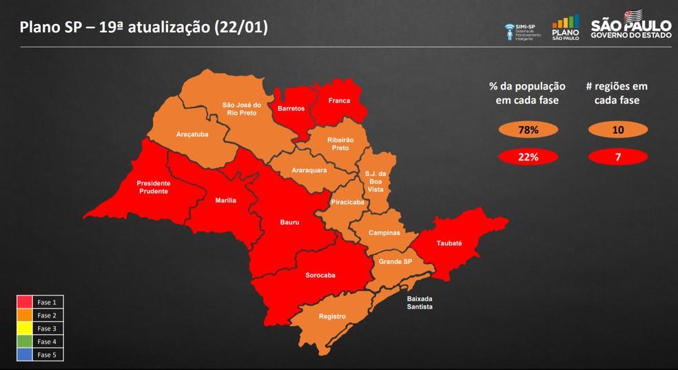Governo de SP coloca estado na fase vermelha da quarentena aos finais de semana e a partir das 20h nos dias úteis